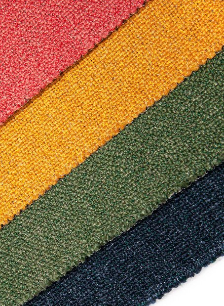 KAVIR upholstery in 17 colourways and three co-ordinating feature patterns